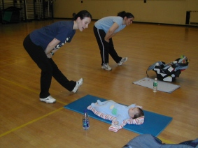 Moms and babies enjoy exercise together!